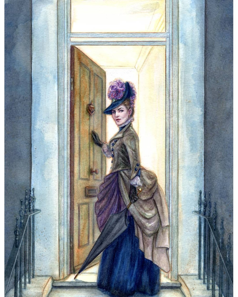 To celebrate International Women's Day here is the cunning and lovely Irene Adler from A Scandal in Bohemia by Arthur Conan Doyle. The illustration was part of my submission for the Folio Society Book Illustration Competition which unfortunately I didn't place. So many amazing artists in that competition 😍    Watercolour, pencil and gouache on 300gsm cold press watercolour paper.    #sherlock #arthurconandoyle #ireneadler #watercolor #illustration #victorianfashion  #thatwoman #internationalwomensday #kunst #belindaillustrates #australianartist #melbourneartist #melbourneillustrator