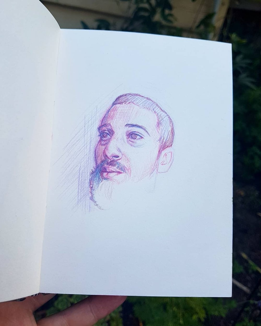 "Sometimes I do a drawing and half way through I think ""Oh that's pretty good"" then I keep going to finish it and it ends up being just ok. So this time I just decided to stop and here's day 26 of #30faces30days  featuring Akim Pina.    #sketchbook #portrait #beard #drawing #prismacolor #colerase #pencilportrait ##march2018 #australianartist #melbourneartist #belindaillustrates @changelingartist @sktchyapp"