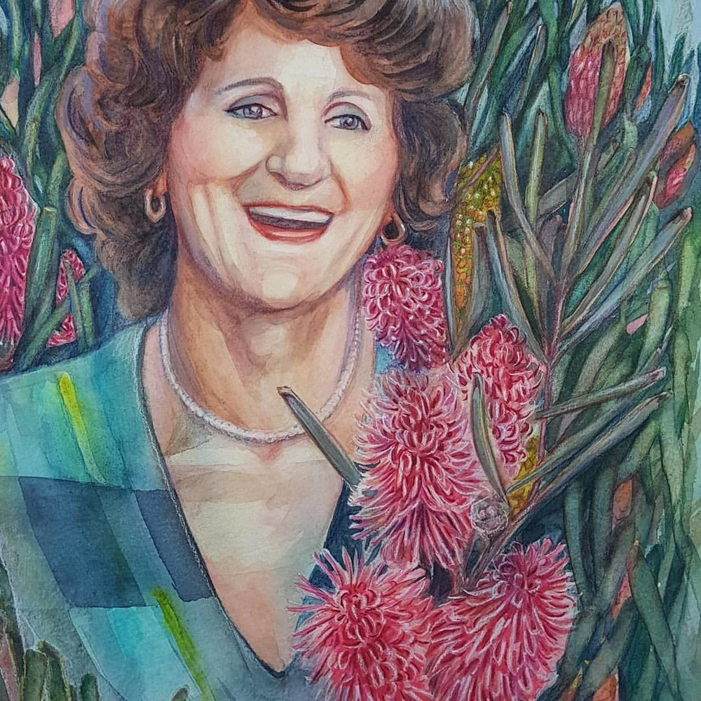 3rd portrait of the 4 I've been commissioned to do is finished 😁 yay! 1 more to go!! Watercolour, pencil and pastel on 300gsm Cold Press watercolour paper. #watercolourpainting #watercolor #portrait #painting #australianartist #australiannativewildflowers #hakea #westernaustralianflowers #belindaillustrates #august2017