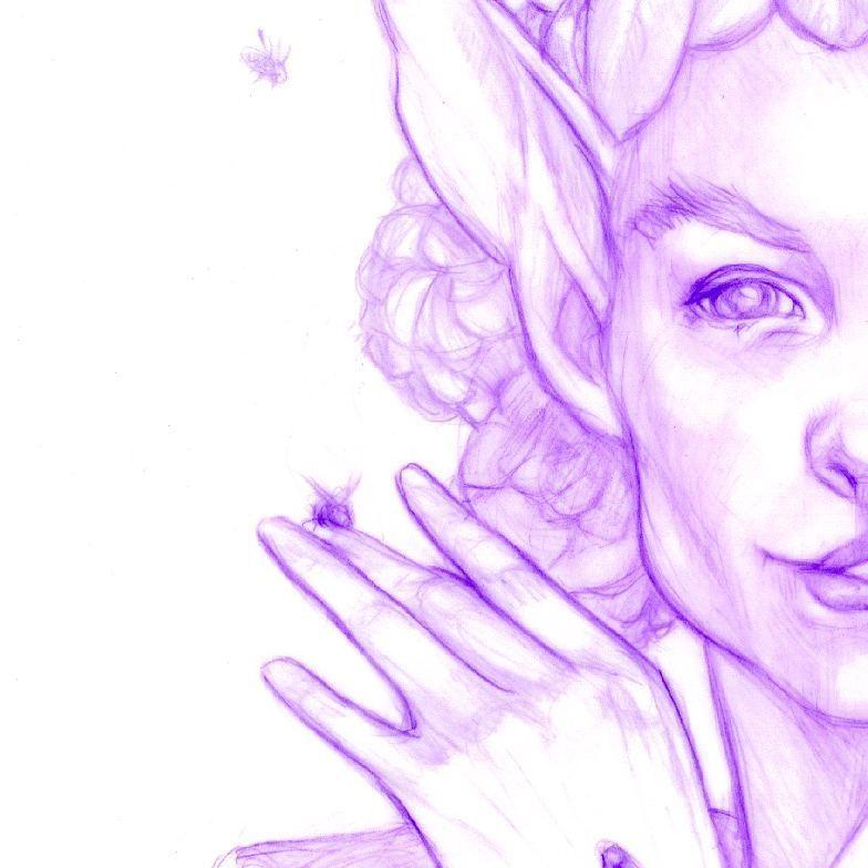 Some further work in progress 😁 #oddfae #seelie #faerie #purple #prismacolorcolerase #duralar #australianartist #australianillustrator #melbourneartists #purplepencil