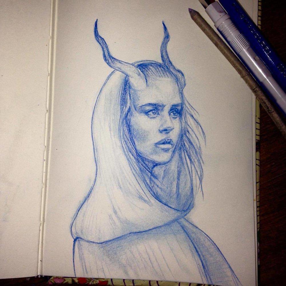 Does a dragonish lady count for #smaugust ? #dragonlady #prismacolor #prismacolorpencils #sketch #sketchbook #2016 #august #belindaillustrates
