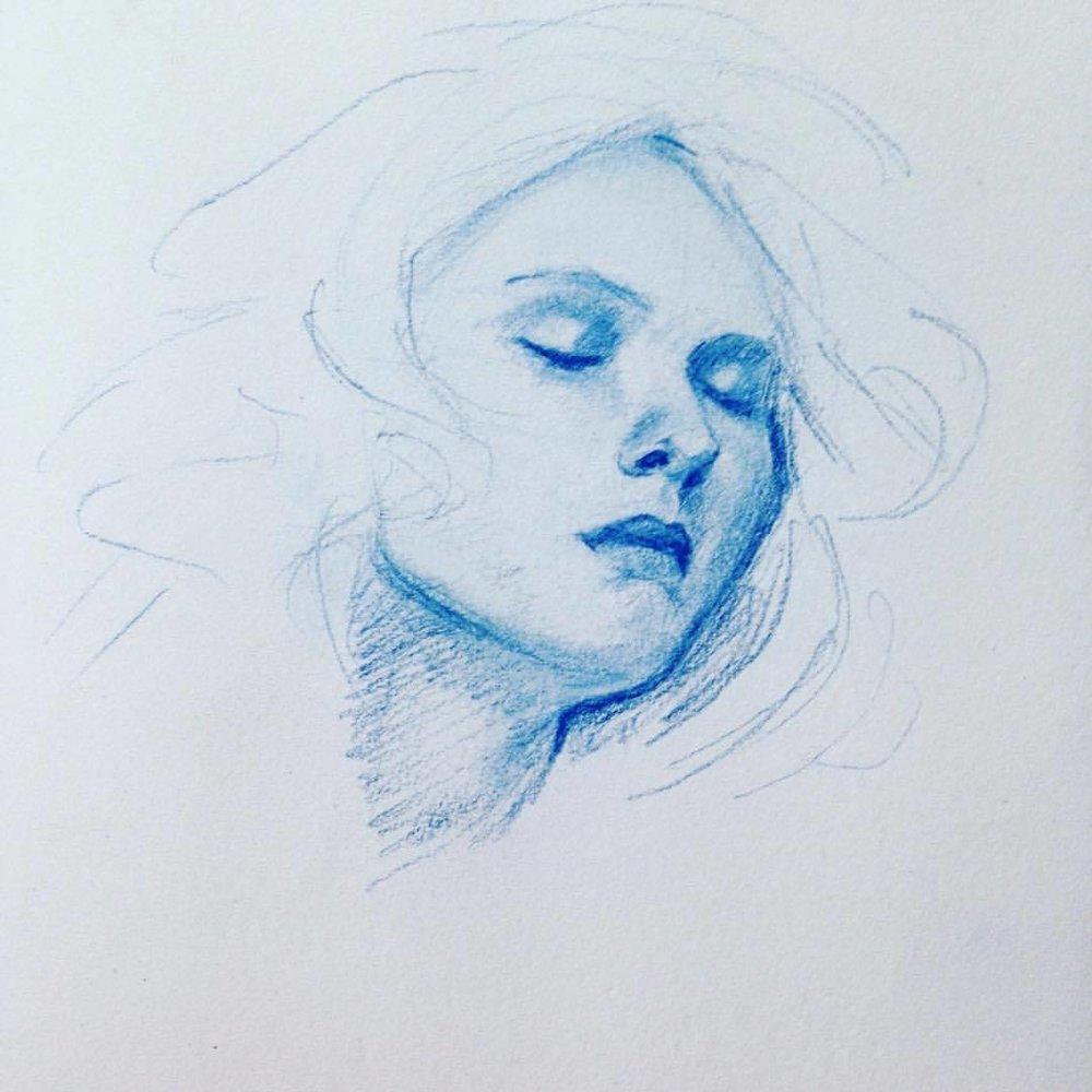 Briar Rose #sketchbook #sketch #pencils #prismacolor #fairytale #onceuponatime #changelings #briarrose #sleepingbeauty