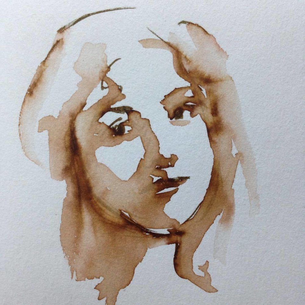 A drawing I did the other day with a water soluble texta and a wet brush, really happy with how it turned out ☺️ #2016 #inksketch #texta #water #portrait #belindaillustrates @belinda.illustrates