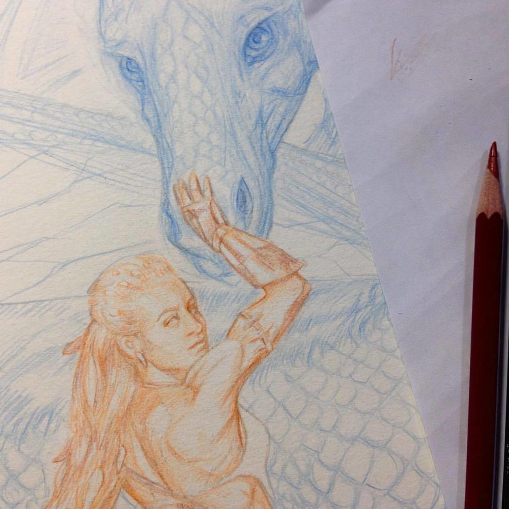 Trying to get this massive drawing done and painted by next Tuesday - fingers crossed! For Artorder's Warriors and Amazons Challenge ☺️#workinprogress #amazonwoman #fantasyart #artorderchallenge #artorder #belindaillustrates #2015 #pencils #prismacolorpencils #colerasepencils