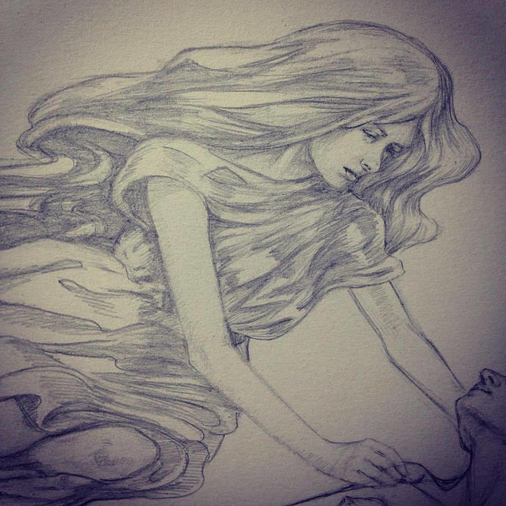 Close up of Nephelai #belindaillustrates #2015 #pencil #artorderchallenge #nephelai