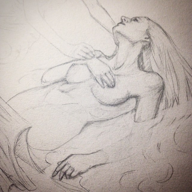 WIP for Air Artorder Challenge #air #artorderchallenge #pencil #2015 #belindaillustrates