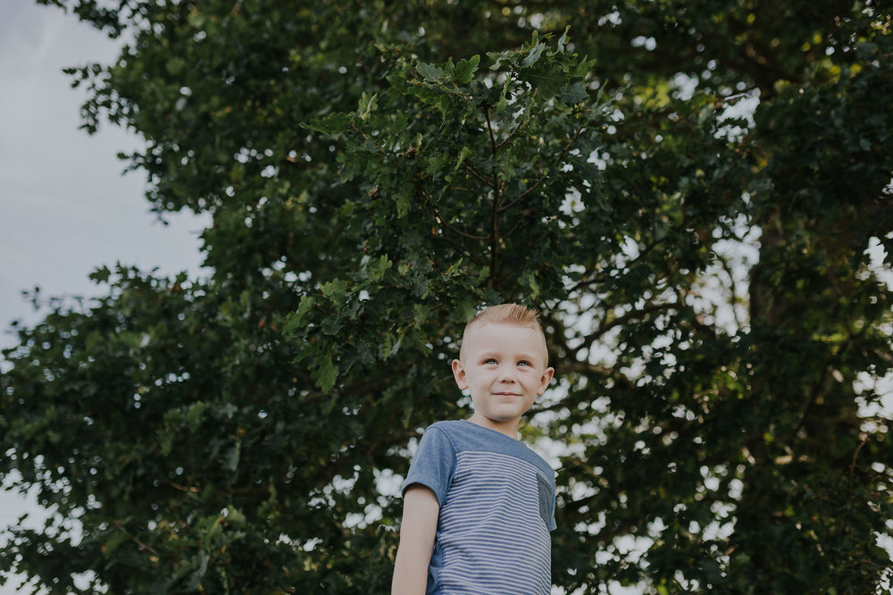Boy pictured outside
