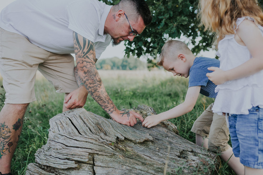Family exploring outdoors
