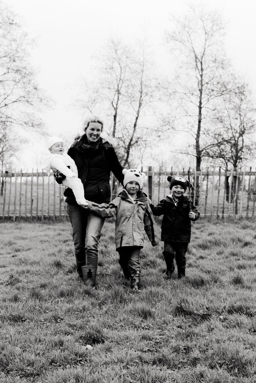 Family Photo Black & White