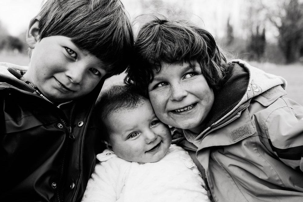 Siblings Black & White