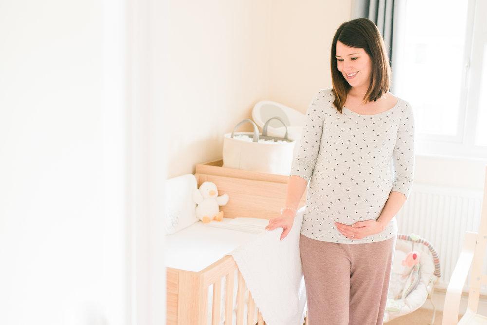 Mum-to-be in nursery Woodley