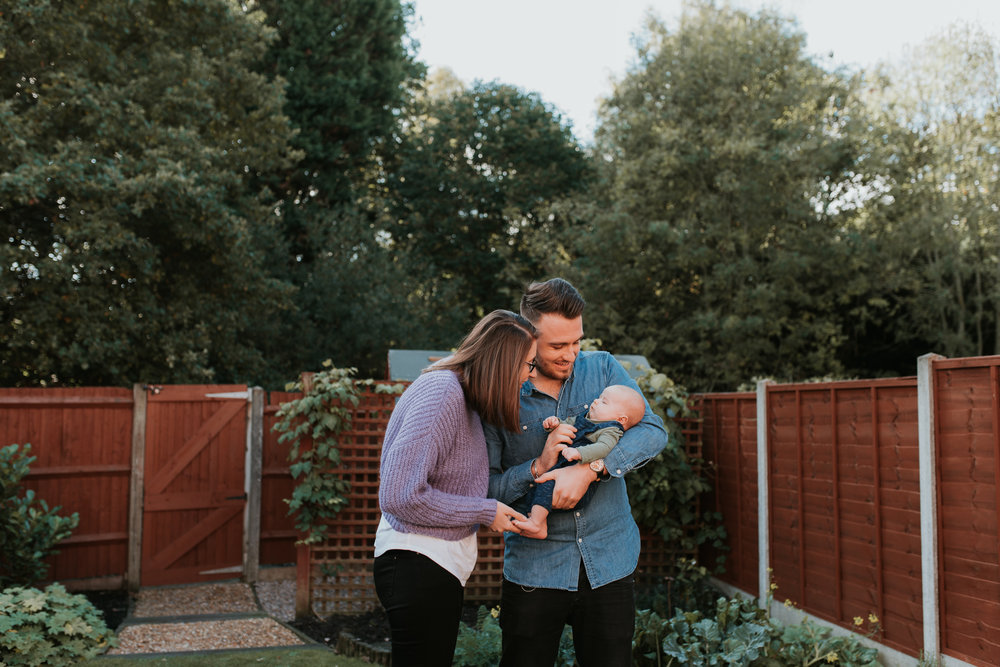 Family photos at home Wokingham