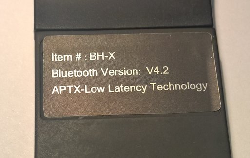 - With aptX and BT version 4.2 gives you super TV sound