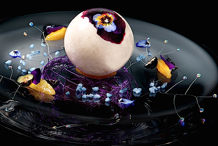 BravoTV: The Willy Wonka Blueberry Balloon at This Michelin-Starred Restaurant Is the Most Gorgeous Dessert Ever