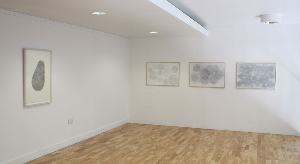 installation view of upstairs gallery   at the Lab, Dublin showing drawings