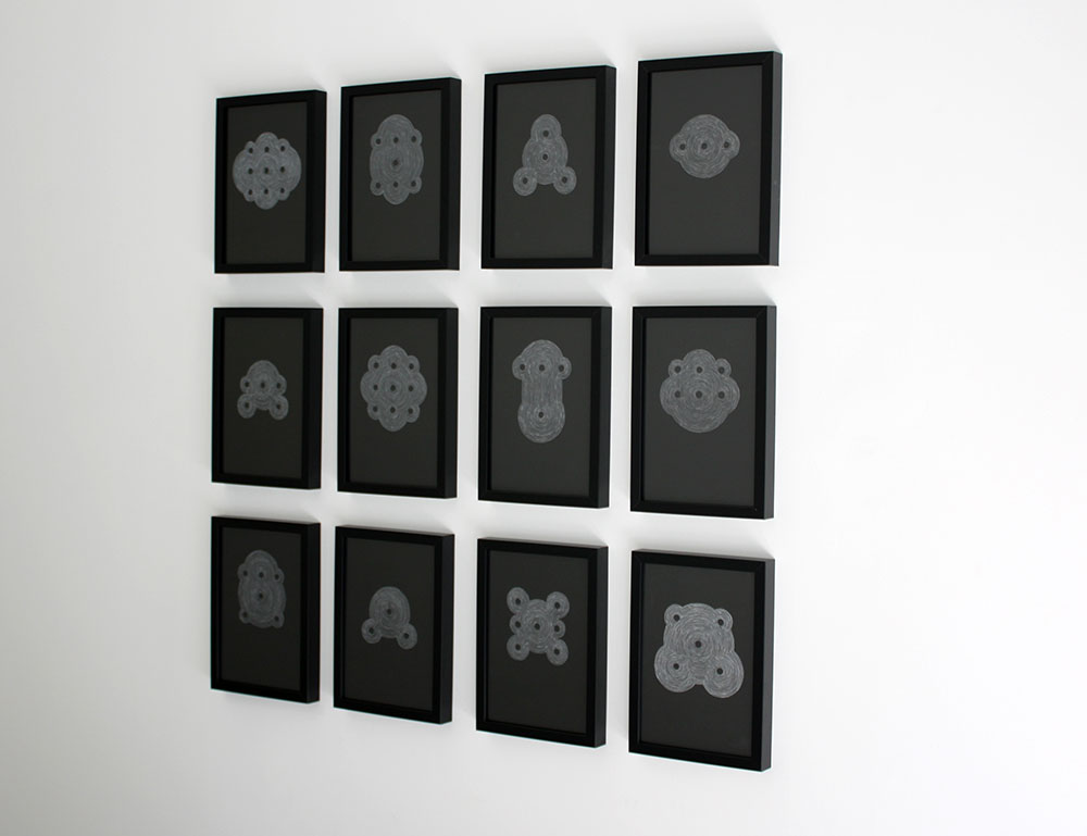 installation view of  Out of Order  at the Lab, Dublin showing drawings