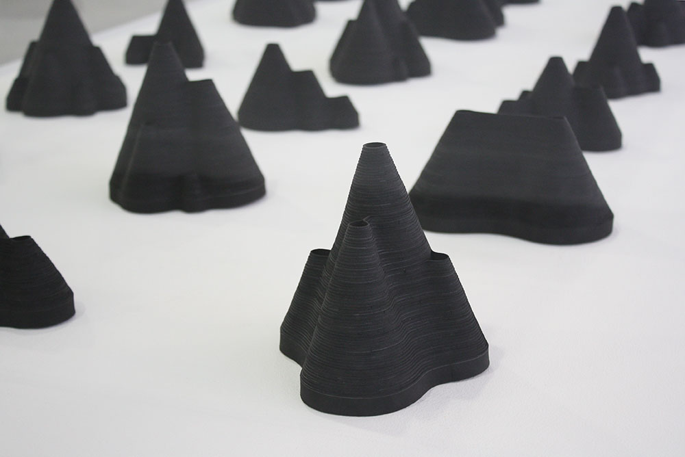 installation view of  Out of Order  at the Lab, Dublin showing paper sculptures