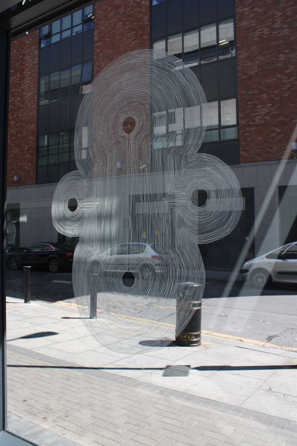 Ink on window, The Lab, Dublin