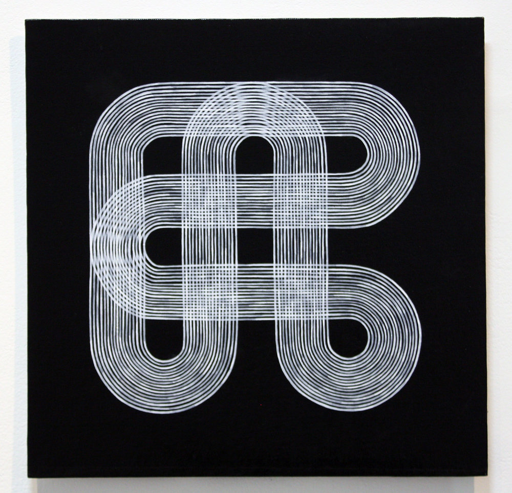 Circuit , acrylic on canvas board