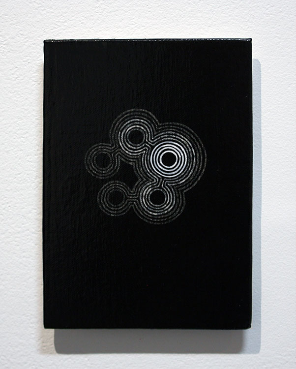 Pulse , acrylic on canvas board