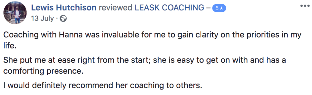 Edinburgh Life Coaching review