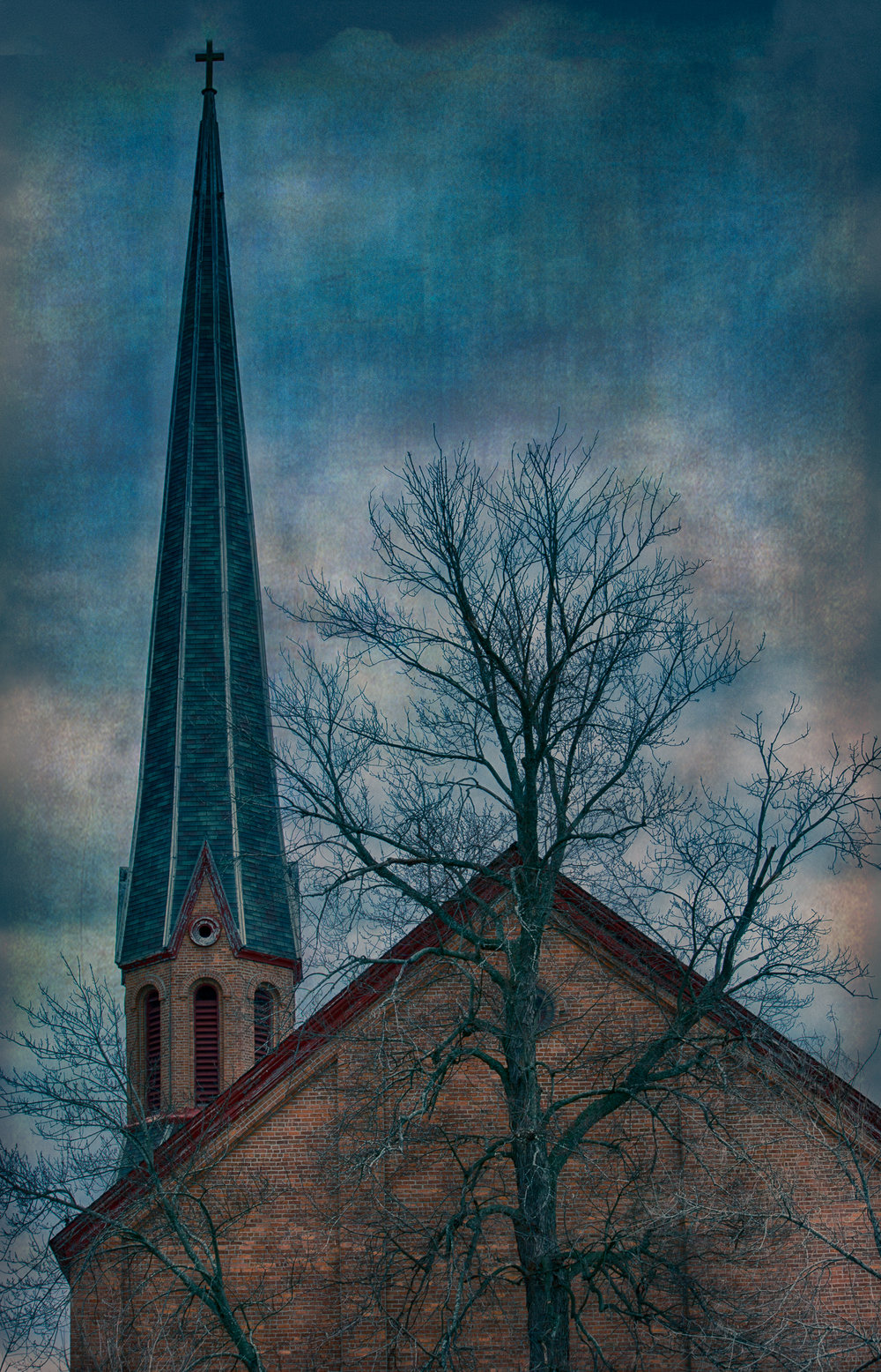 The Steeple and the Tree - D7100 - See the poem by the same name in the Poetry Blog!