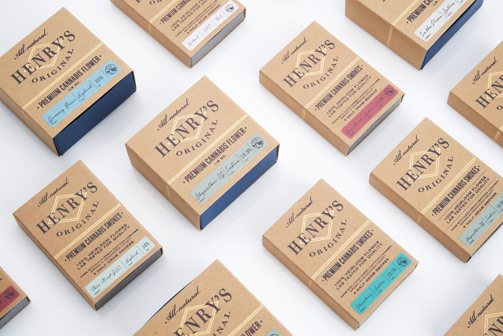About Henry's Original   Grown under the strictest of standards in legendary Mendocino County, renowned for terroir that produces the finest cultivation conditions. Strains are selected based on seasonality and quality.  Each small batch is crafted by hand and has its own unique character.