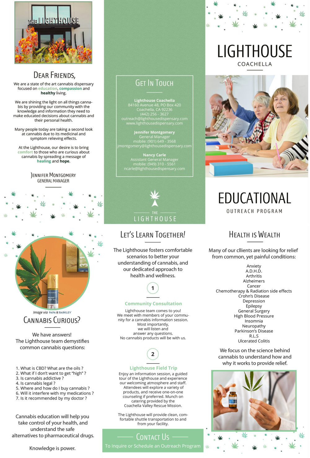 choose enlightenment - Download our Educational Outreach Brochure to learn more