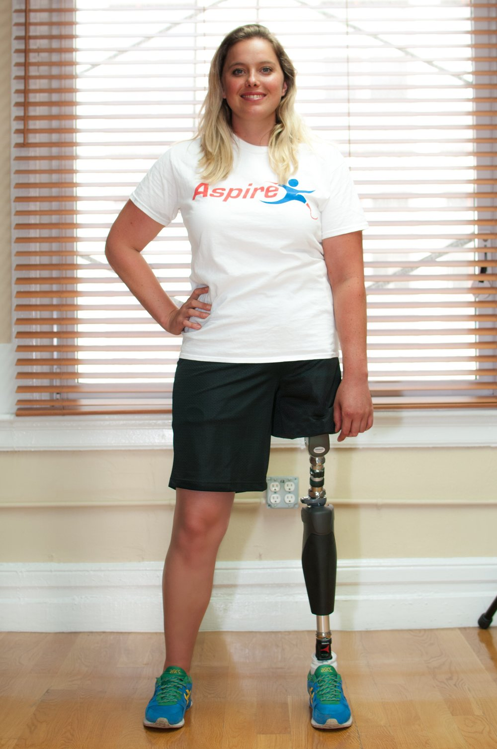 Emily - At 11 years old Emily was diagnosed with Cancer and as a result had her left leg amputated at the hip. We provided Emily with her prosthesis allowing her to walk independently. Emily s also a 3 Paralympian and was the first Paraclimber to compete at ISFC World Championships for South Africa.
