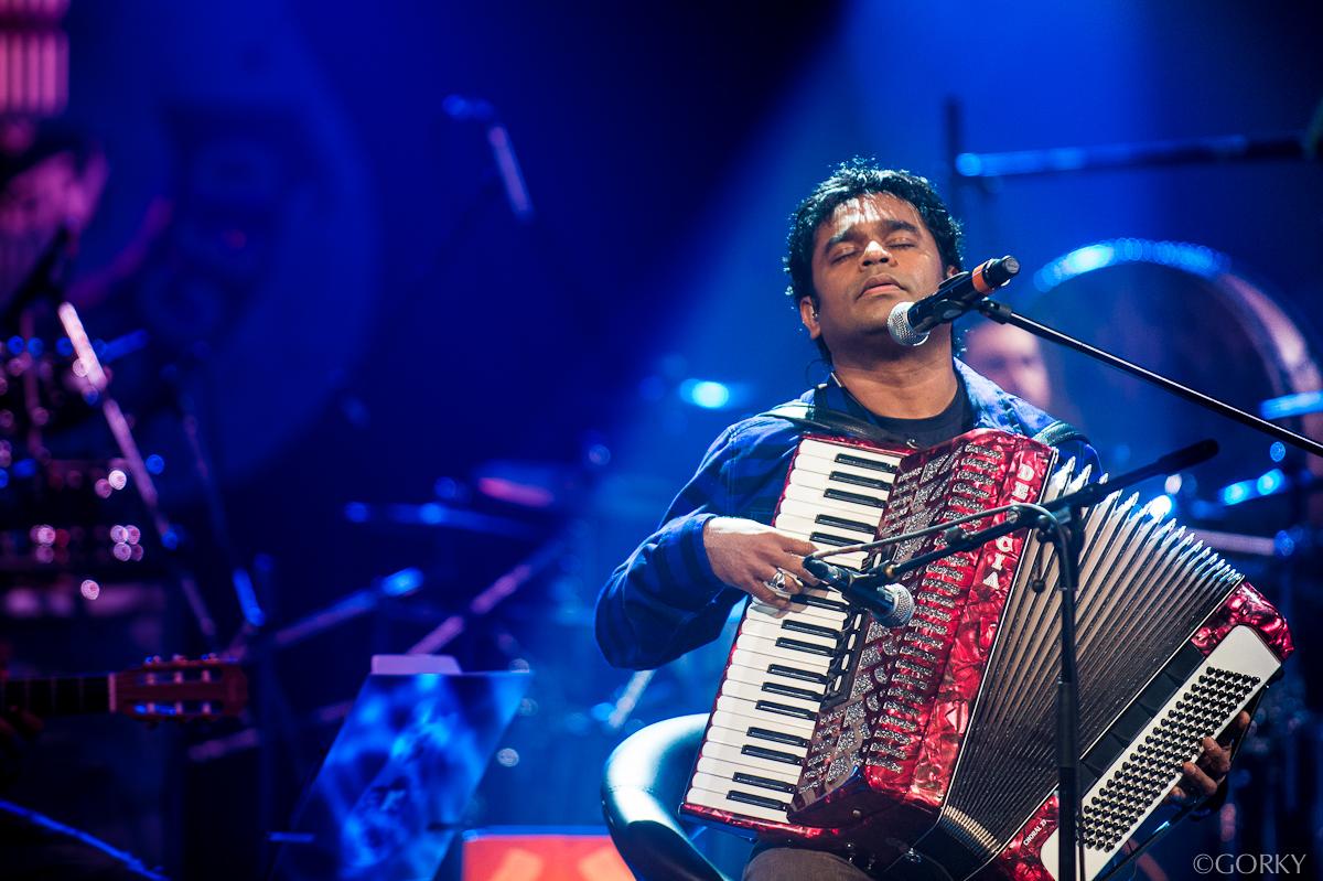AR Rahman playing at MTV Unplugged 2012