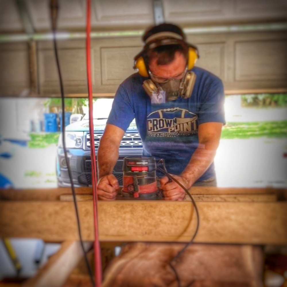 The Maker - My name is Joe, and since I can remember I have always been interested in building things. I would sit as a kid in front of my grandma's TV with a hammer, nails, and some scrap wood and build along with Norm Abram while watching the New Yankee Workshop. If I wasn't building along in front of the TV I would be in the shop with my grandpa helping him build things.While a young child should not play with a hammer and nails that served as the catalyst to fuel my inspiration to build and make things.I have taken up the motto, why buy something when you can build or make it? And with that motto I have remodeled my house and built most of the furniture inside.