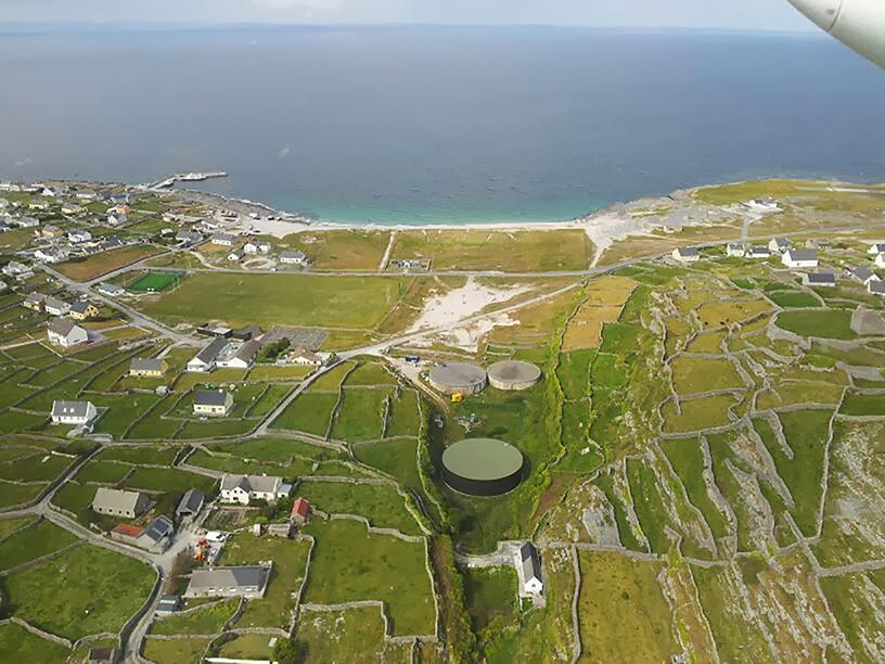 Inis Oir aerial view