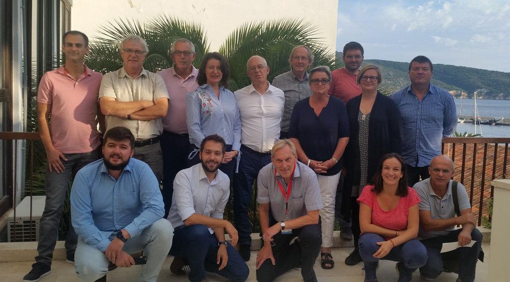 Extended WASAC Team on island Vis, Croatia in September 2017 durring WASAC workshops.