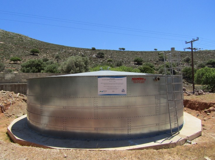 A 300 m3 water tank near Livadia village