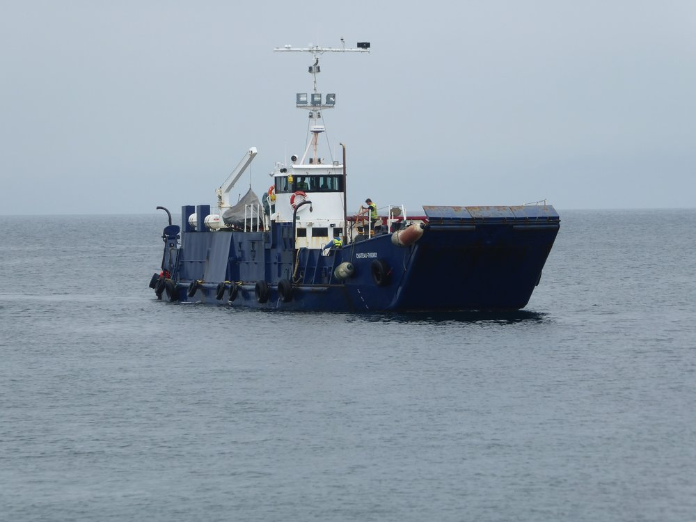 Water tanker approaching Inisheer