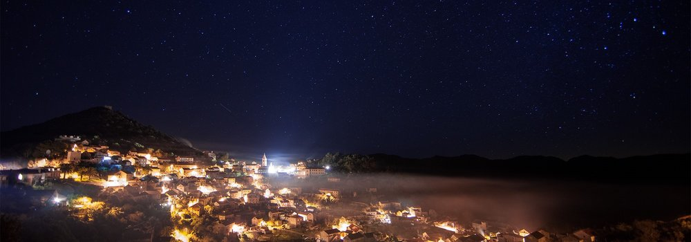 Stary night over Lastovo