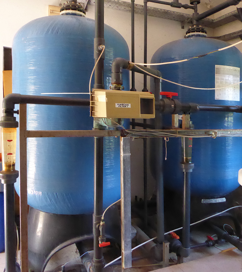 Sand filter in Prgovo water facility