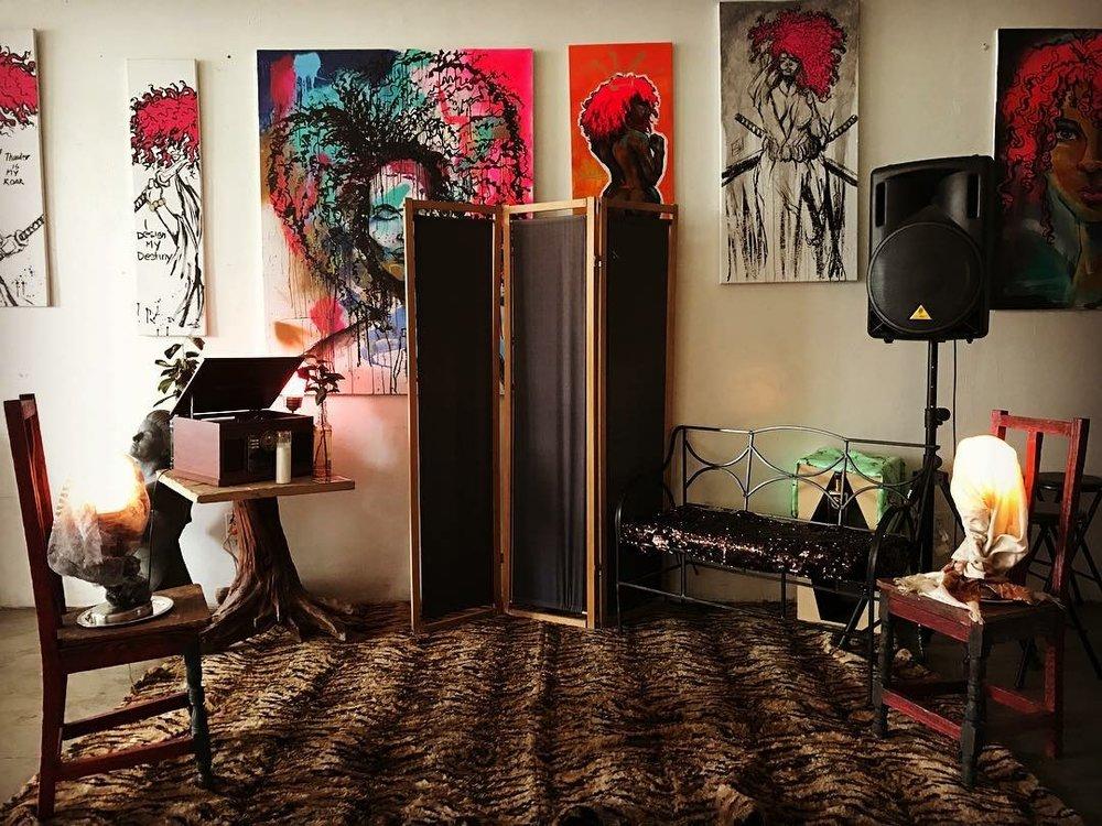 Artwork on display at cordoba creative studio