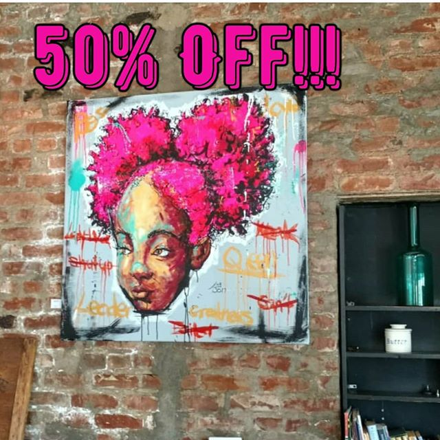 """Pink Potential""  Mixed Media on 40""x40"" stretched canvas.  This piece and all my other original ""Pink-Haired Muse"" canvas artwork is available during my 50% Off Sale. Check out my website lajonsart.com  #artworkforsale #lajonsart #lajonspinkhairedmuse #beautyofbushido #womenwarriors #pinkhairdontcare #gotpink #ipaintwithpink #metoo #breastcancermonth #womenrock #femalesamurai #herpower #herhaircrown #drippingmelanin #herconfidence #hercourage #blackqueens #dopeblackartist #colorofbeauty"
