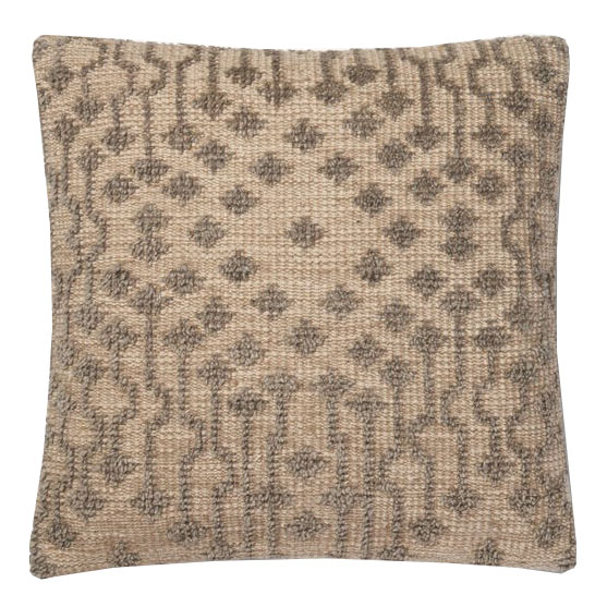 Taupe Cotton & Wool Pillow | Scout & Nimble