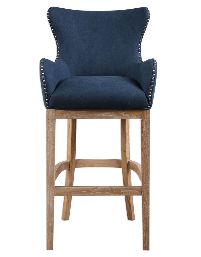 Copy of Uttermost Barton Denim Blue Bar Stool | Scout & Nimble