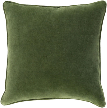 Safflower Green Velvet Pillow | Scout & Nimble