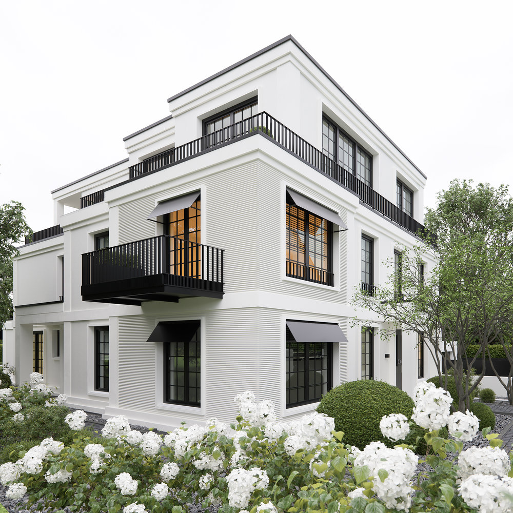 Couldn't resist posting this gorgeous exterior! The black windows and railings are nothing short of amazing with the white siding! Via  @decorcriative   #ChristianBasler