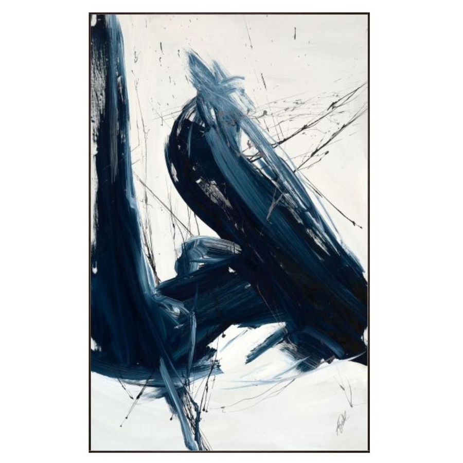 Blue Strokes Art