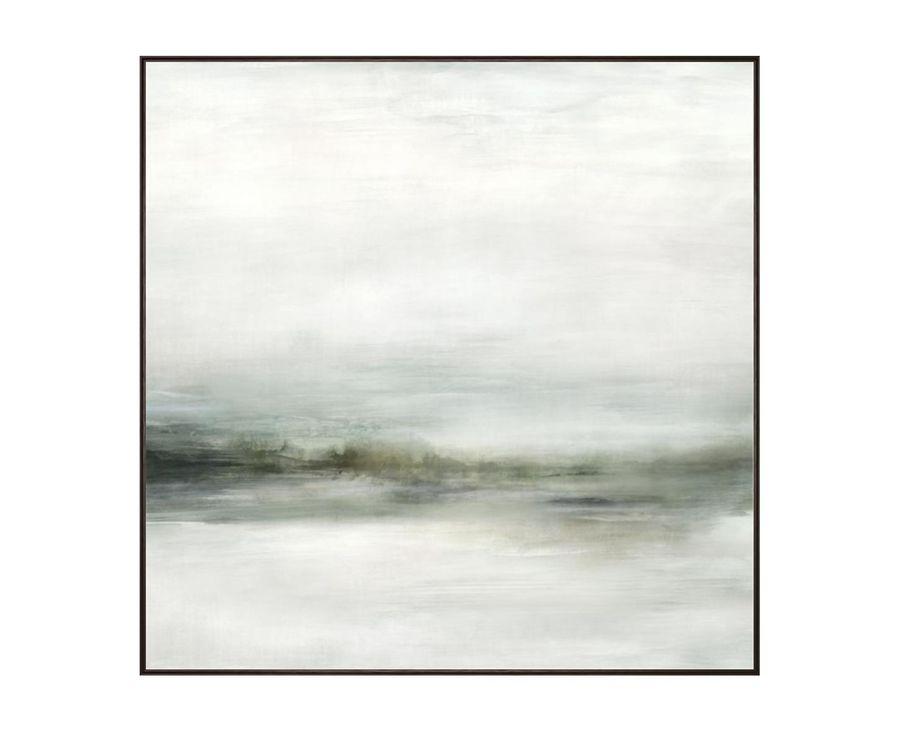 Grey Essence I Framed Canvas Artwork