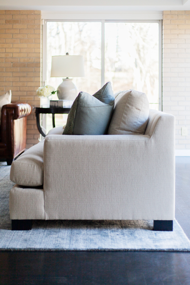 The  Transitional 3-Seat Sofa  features modern lines and Crypton upholstery — it's no wonder it's one of our favorite sofas to bring it into a space. See how we used the sofa in  our Lakeview project.