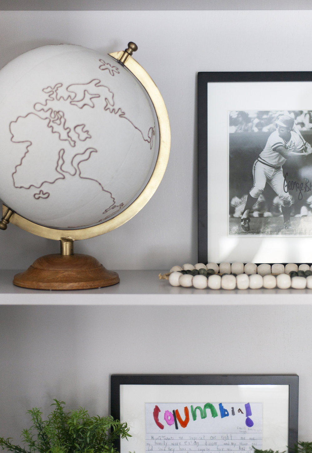 SHOP THE LOOK    Canvas Globe ,  White Styling Beads