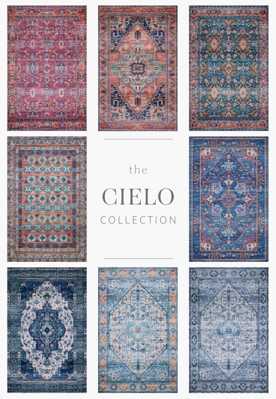Unroll your statement piece. Featuring time-honored motifs in a highly saturated color palette, the Cielo Collection is durable series that's printed in Turkey of 100% polyester. Designed by Justina Blakeney for Loloi.