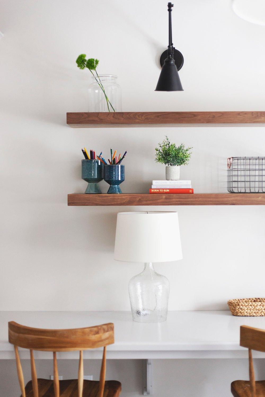 SHOP THE LOOK       Esme Chair ,  Berkeley Pots ,  Medium French Mason Jar ,  Morland Adjustable Sconce