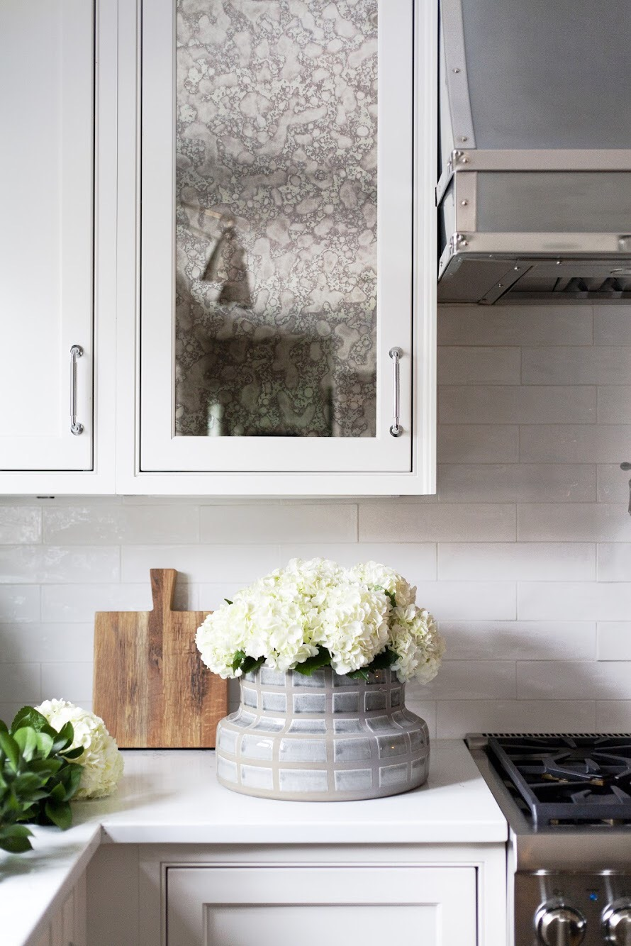 SHOP THE LOOK :  Grid Ceramic Vase ,  French Cutting Board
